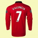 Magasin Maillot De Foot Manches Longues (Valencia 7) Manchester United 2014 2015 Domicile