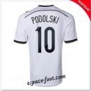 Maillot Allemagne (Podolski 10) 2014/15 Domicile Acheter