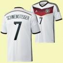 Maillot Allemagne (Schweinsteiger 7) 2014 World Cup Domicile Adidas Moins Cher France