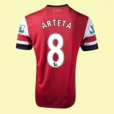 Maillot Arsenal (Arteta 8) 2014-2015 Domicile Nike