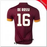 Maillot As Roma (De Rossi 16) 2014 2015 Domicile Pas Cher Lyon