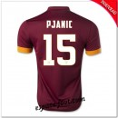 Maillot As Roma (Pjanic 15) 2014-15 Domicile Pas Cher