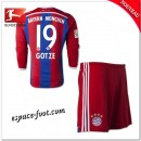 Maillot Bayern Munich Enfant Trousse (Gotze 19) 2014/15 Manche Longue Domicile Pas Cher Paris