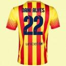 Maillot De Barcelone (Dani Alves 22) 2014-2015 Extérieur Nike Achat