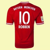 Maillot De Bayern Munich (Robben 10) 2015/16 Domicile Adidas France