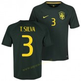 Maillot De Brésil 2014 Coupe Du Monde T.Silva 3eme