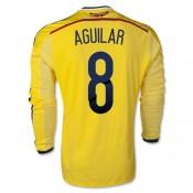 Maillot De Colombie 2014 Coupe Du Monde Aguilar Manche Longue Domicile Marseille