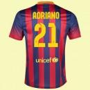Maillot De Fc Barcelone (Adriano 21) 2014-2015 Domicile Nike Paris