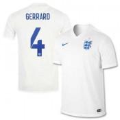 Maillot De Foot 2014/2015 Angleterre Domicile Coupe Du Monde (4 Gerrard)
