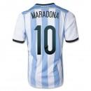 Maillot De Foot 2014/2015 Argentin Domicile Coupe Du Monde (10 Maradona)