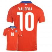 Maillot De Foot 2014/2015 Chile Domicile Coupe Du Monde (10 Valdivia) En Solde