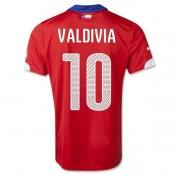 Maillot De Foot 2014/2015 Chile Domicile Coupe Du Monde (10 Valdivia) Pas Cher Lyon