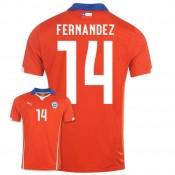 Maillot De Foot 2014/2015 Chile Domicile Coupe Du Monde (14 Fernandez)