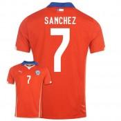 Maillot De Foot 2014/2015 Chile Domicile Coupe Du Monde (7 Sanchez) Pas Cher Paris