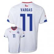 Maillot De Foot 2014/2015 Chile Exterieur Coupe Du Monde (11 Vargas) Boutique En Ligne