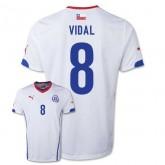 Maillot De Foot 2014/2015 Chile Exterieur Coupe Du Monde (8 Vidal) Site Officiel