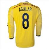 Maillot De Foot 2014/2015 Colombie Domicile Manche Longue Coupe Du Monde (8 Aguilar) Soldes Paris