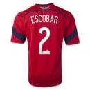 Maillot De Foot 2014/2015 Colombie Exterieur Coupe Du Monde (2 Escobar) Soldes Nice
