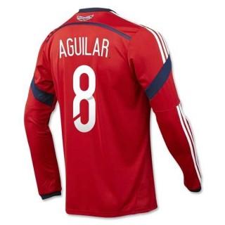 Maillot De Foot 2014/2015 Colombie Exterieur Manche Longue Coupe Du Monde (8 Aguilar) Magasin Paris
