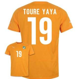 Maillot De Foot 2014/2015 Cote D'Ivoire Domicile Coupe Du Monde (19 Toure Yaya) Soldes Avignon