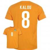 Maillot De Foot 2014/2015 Cote D'Ivoire Domicile Coupe Du Monde (8 Kalou) Soldes Alsace