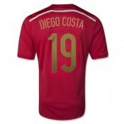 Maillot De Foot 2014/2015 Espagne Domicile Coupe Du Monde (19 Diego Costa) Pas Cher Nice