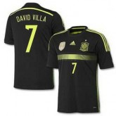 Maillot De Foot 2014/2015 Espagne Exterieur Coupe Du Monde (7 David Villa) France Site Officiel