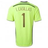 Maillot De Foot 2014/2015 Espagne Exterieur Gardien De But Coupe Du Monde (1 I.Casillas) Soldes Alsace