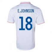 Maillot De Foot 2014/2015 Etats-Unis Domicile Coupe Du Monde (18 E.Johnson)