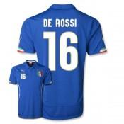Maillot De Foot 2014/2015 Italie Domicile Coupe Du Monde (16 De Rossi)
