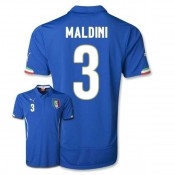 Maillot De Foot 2014/2015 Italie Domicile Coupe Du Monde (3 Maldini)