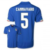 Maillot De Foot 2014/2015 Italie Domicile Coupe Du Monde (5 Cannavaro)