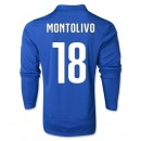 Maillot De Foot 2014/2015 Italie Domicile Manche Longue Coupe Du Monde (18 Montolivo)