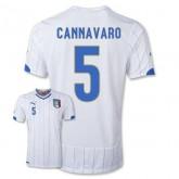 Maillot De Foot 2014/2015 Italie Exterieur Coupe Du Monde (5 Cannavaro)