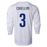 Maillot De Foot 2014/2015 Italie Exterieur Manche Longue Coupe Du Monde (3 Chiellini)