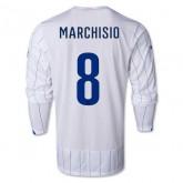 Maillot De Foot 2014/2015 Italie Exterieur Manche Longue Coupe Du Monde (8 Marchisio)