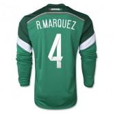 Maillot De Foot 2014/2015 Mexique Domicile Manche Longue Coupe Du Monde (4 R.Marquez)