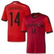 Maillot De Foot 2014/2015 Mexique Exterieur Coupe Du Monde (14 Chicharito)