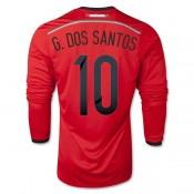 Maillot De Foot 2014/2015 Mexique Exterieur Manche Longue Coupe Du Monde (10 Santos)
