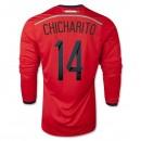 Maillot De Foot 2014/2015 Mexique Exterieur Manche Longue Coupe Du Monde (14 Chicharito)