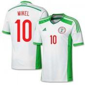 Maillot De Foot 2014/2015 Nigeria Exterieur Coupe Du Monde (10 Mikel) En Solde