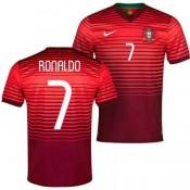 Maillot De Foot 2014/2015 Portugal Domicile Coupe Du Monde (7 Ronaldo) Lyon