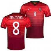 Maillot De Foot 2014/2015 Portugal Domicile Coupe Du Monde (8 Moutinho) Provence