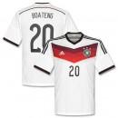 Maillot De Foot Allemagne Domicile Coupe Du Monde 2014 (20 Boateng)