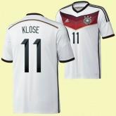 Maillot De Foot Allemagne (Klose 11) 2014 World Cup Domicile Adidas Achat À Prix Bas
