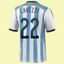 Maillot De Foot Argentine (Lavezzi 22) 2014 World Cup Domicile Adidas