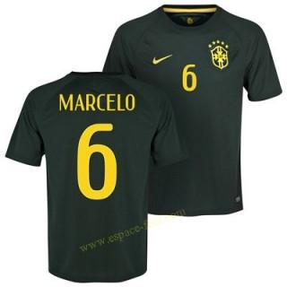 Maillot De Foot Brésil 2014 Coupe Du Monde Marcelo 3eme Pas Cher