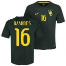 Maillot De Foot Bresil Third Coupe Du Monde 2014 (16 Ramires) Rabais