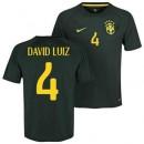 Maillot De Foot Bresil Third Coupe Du Monde 2014 (4 David Luiz) Vendre À Des Prix Bas
