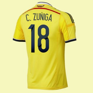 Maillot De Foot Colombie (Camilo Zu?Iga 18) 2014 World Cup Domicile Adidas Fr